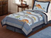 boys quilt patterns | dinosaur bedding, blue dinosaur ...