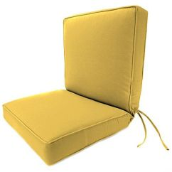 Amazon Outdoor Chair Cushions Yoga Exercises Solid Boxed Deep Seating Cushion With Back Jordan Explore Chairs And More