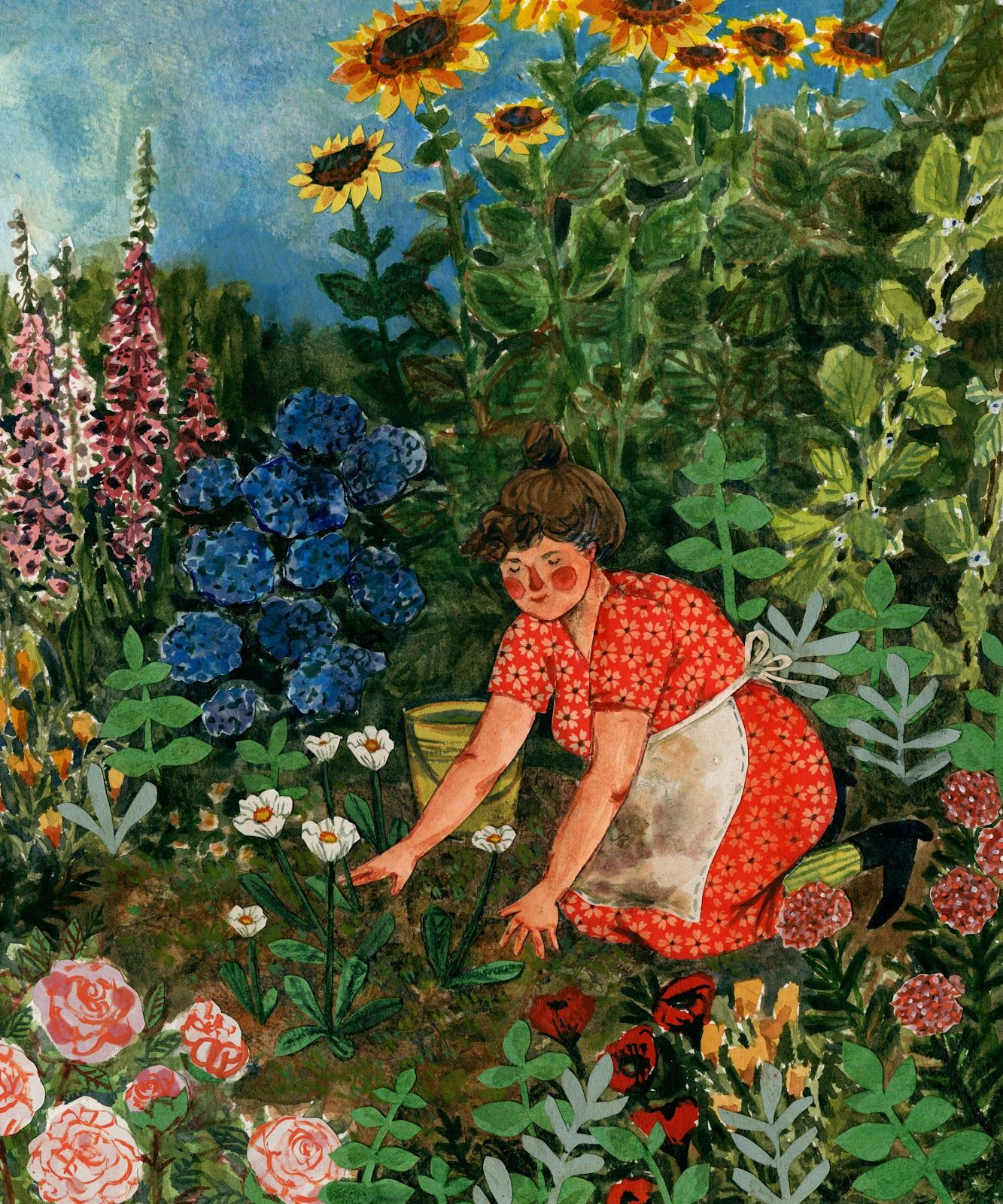 Linnea Im Garten Des Malers Ida Honeycrumble By Phoebe Wahl Paintings And More