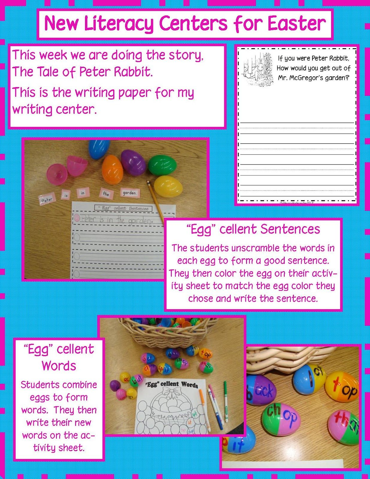 Free Literacy Center Activities Ideas And Activity Sheets
