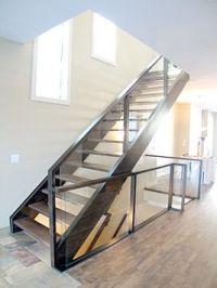 Western Stringers - Open Riser - Hardwood Treads   House ...