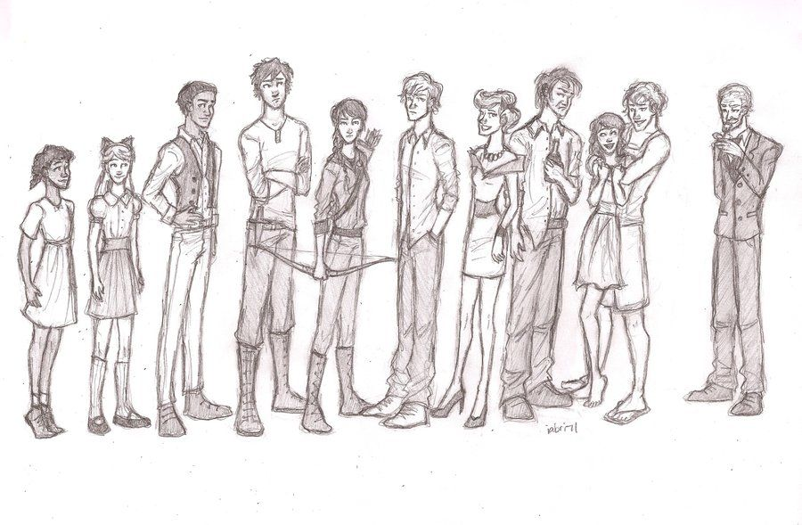 The Hunger Games character lineup by Iabri71.deviantart