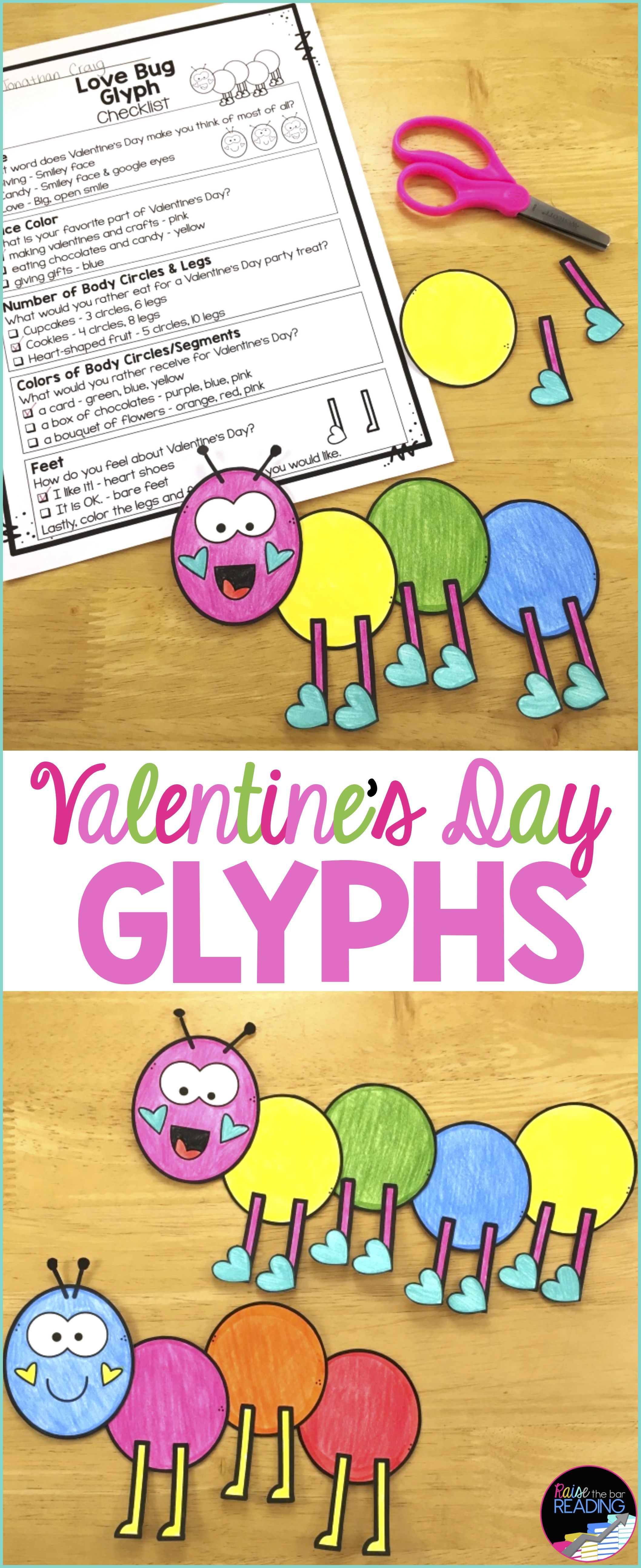 Valentine S Day Activities And Glyphs Valentine S Day Crafts Writing And More