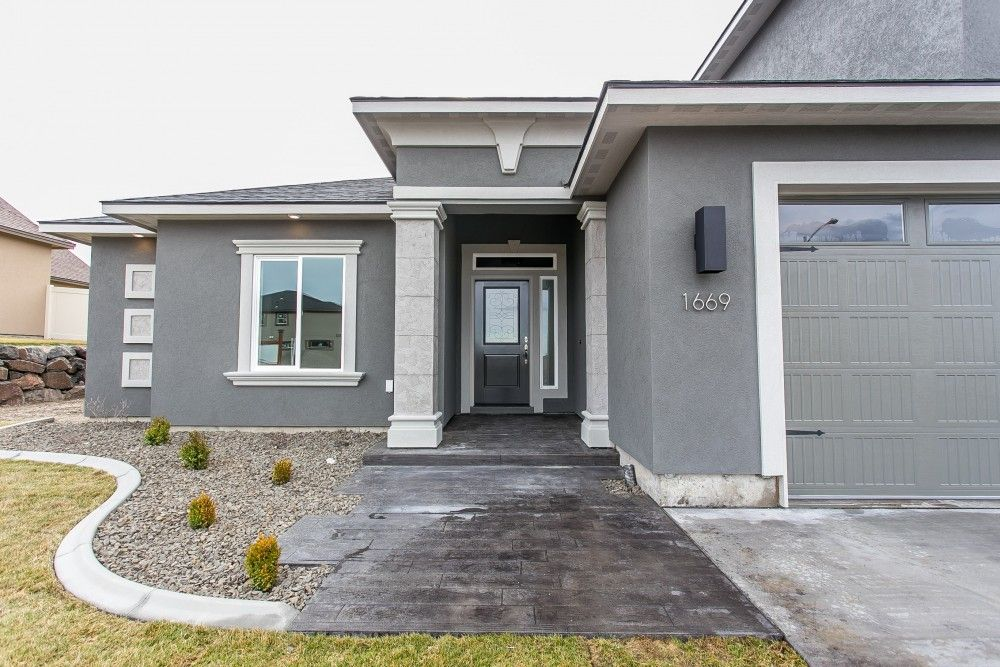 Ideas & Inspirations Modern Nice Grey House Exterior Stucco Colors