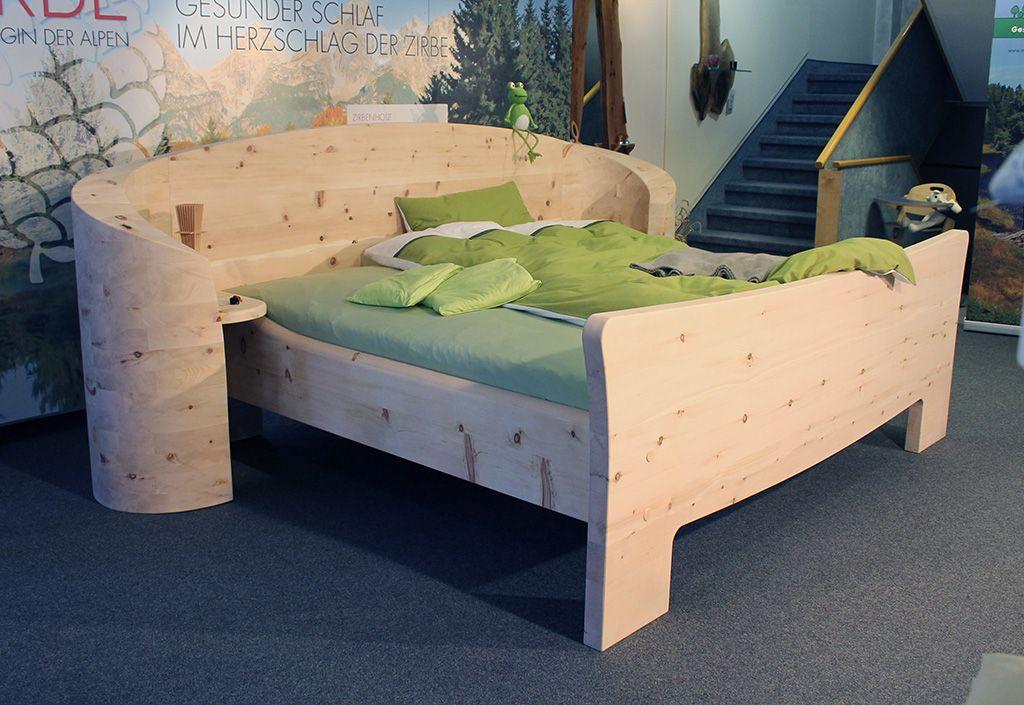 Zirbenholz Massivholz Bett von Mbelhaus Messmer Einrichtung Schlafzimmer Holz Mbel modernes