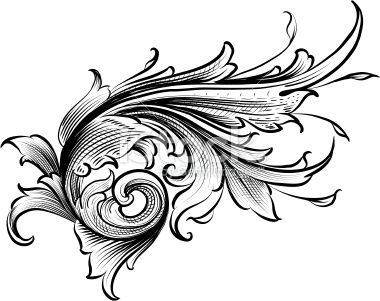 Shaded Acanthus Royalty Free Stock Vector Art Illustration