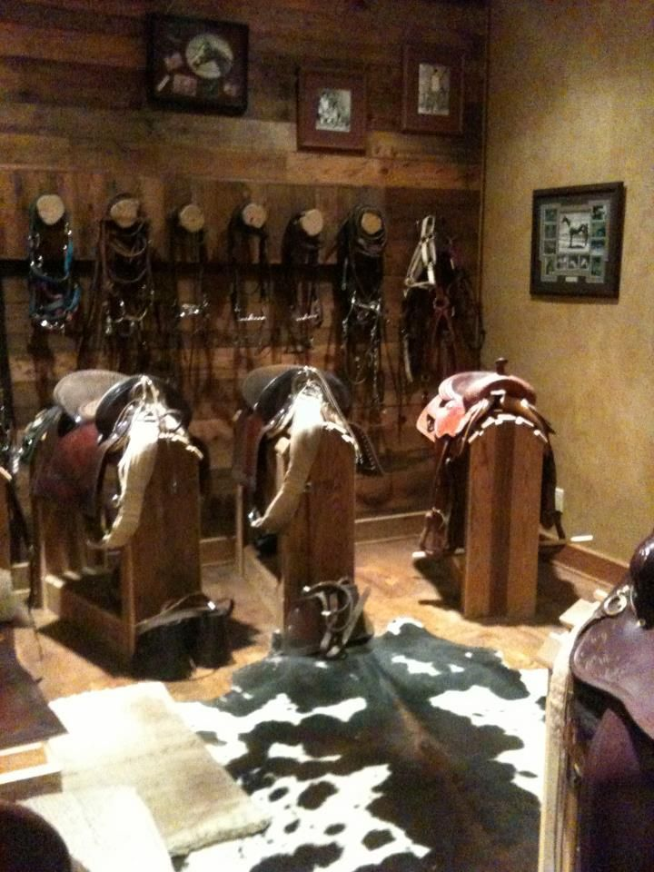 Tack Room on Pinterest  Tack Rooms Saddle Rack and Horse