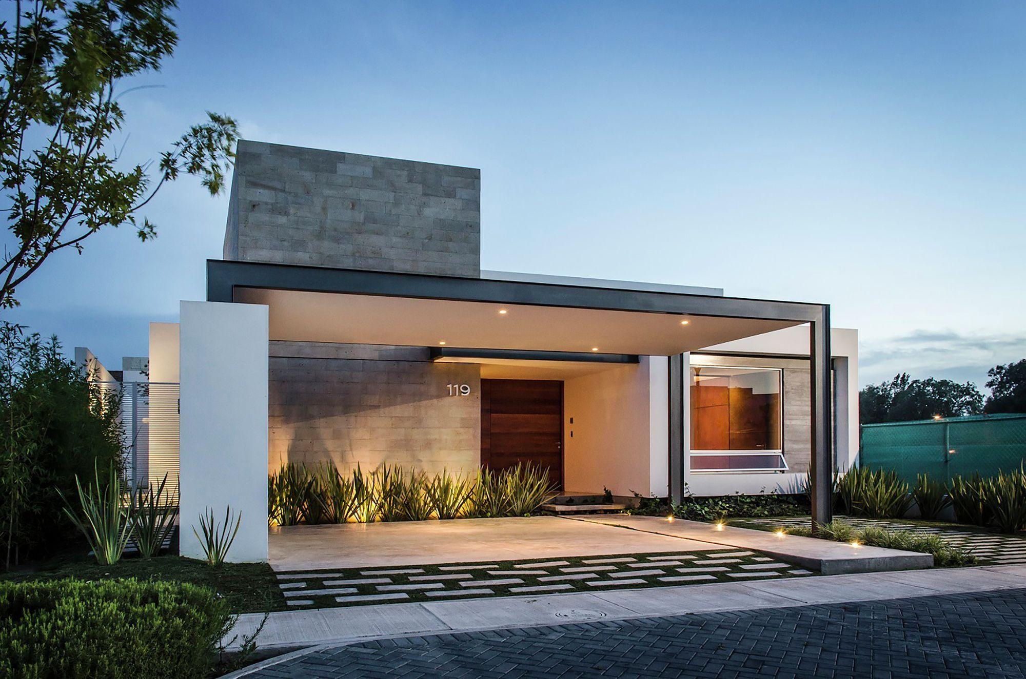 Diseo De Casas Modernas Perfect Fachada Posterior De Casa