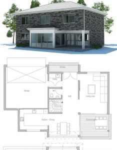Modern house with three bedrooms open planning suitable to narrow lot garage covered terrace for outside dining also rh pinterest