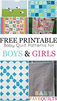 14 Easy Baby Quilt Patterns for Boys and Girls | Easy baby ...
