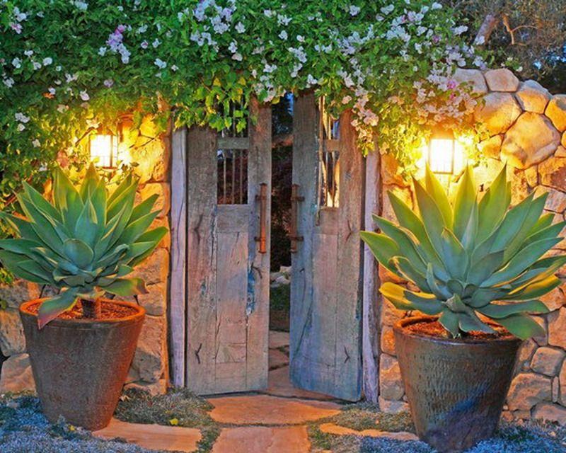 Stunning Mexican House Garden Patio Entry Pinteres
