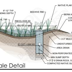 Green Roof Water Runoff Diagram Uss Monitor Of A Rain Garden An Herb