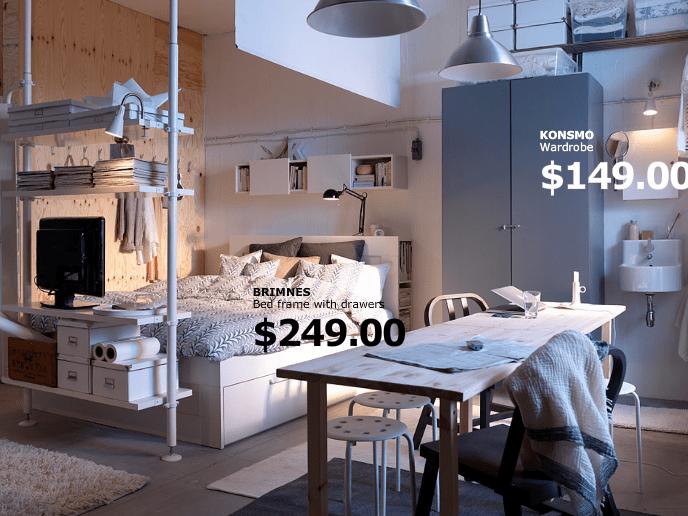 ESPACIO PARA UNO  Ikea studio apartment Studio apartment and Apartment ideas