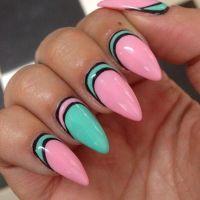Creative Stiletto Nail Design with Multi Color   Uas ...