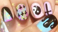 hipster acrylic nails tumblr | Nail Design Art | Pinterest