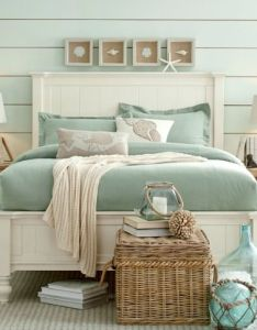 Bedrooms also seashell shadow boxes above headboard http completely rh pinterest