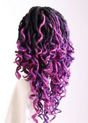 two tone purple dyed ombre dreads