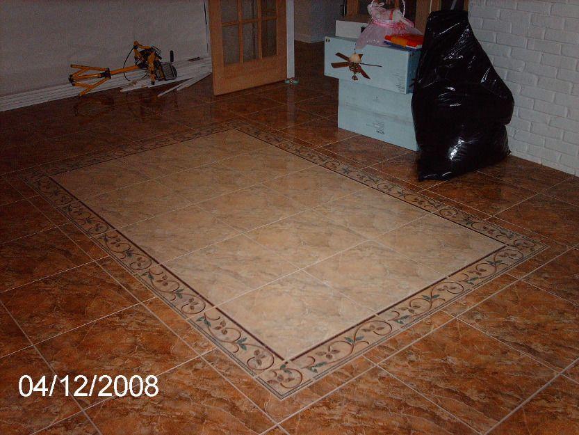 Instalacin de Diseo en piso cermica  Pisos  Pinterest