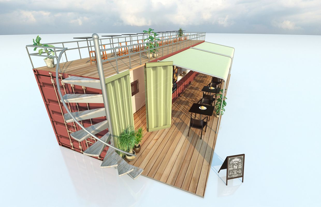Converted Shipping Container Fast food Restaurant