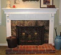 Fresh Interior Marble Brick Fireplace Mantel Designs ...
