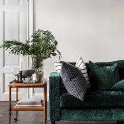 Emerald Green Sofa Covers Modern Italian Leather Sofas Uk Luxe Velvet Retro Bar Cart Sideboard Fir