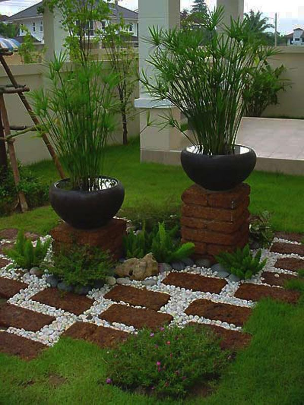 13 Ideas Con Ladrillos Para El Jardín Gardens Designs And Accents
