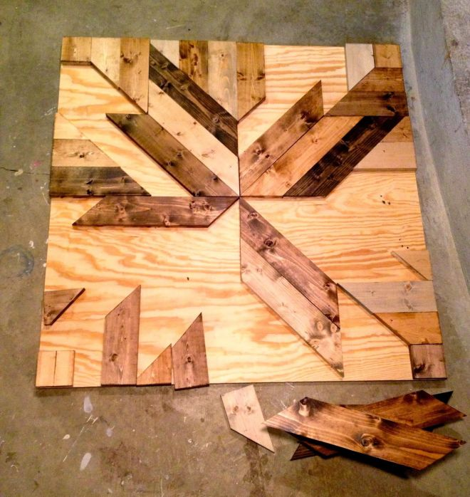 Build diy wood planked quilt wall art make this wall