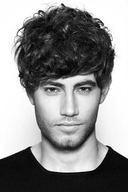 Curly Hairstyles For Men Thick Medium Hair Men's Haircuts And
