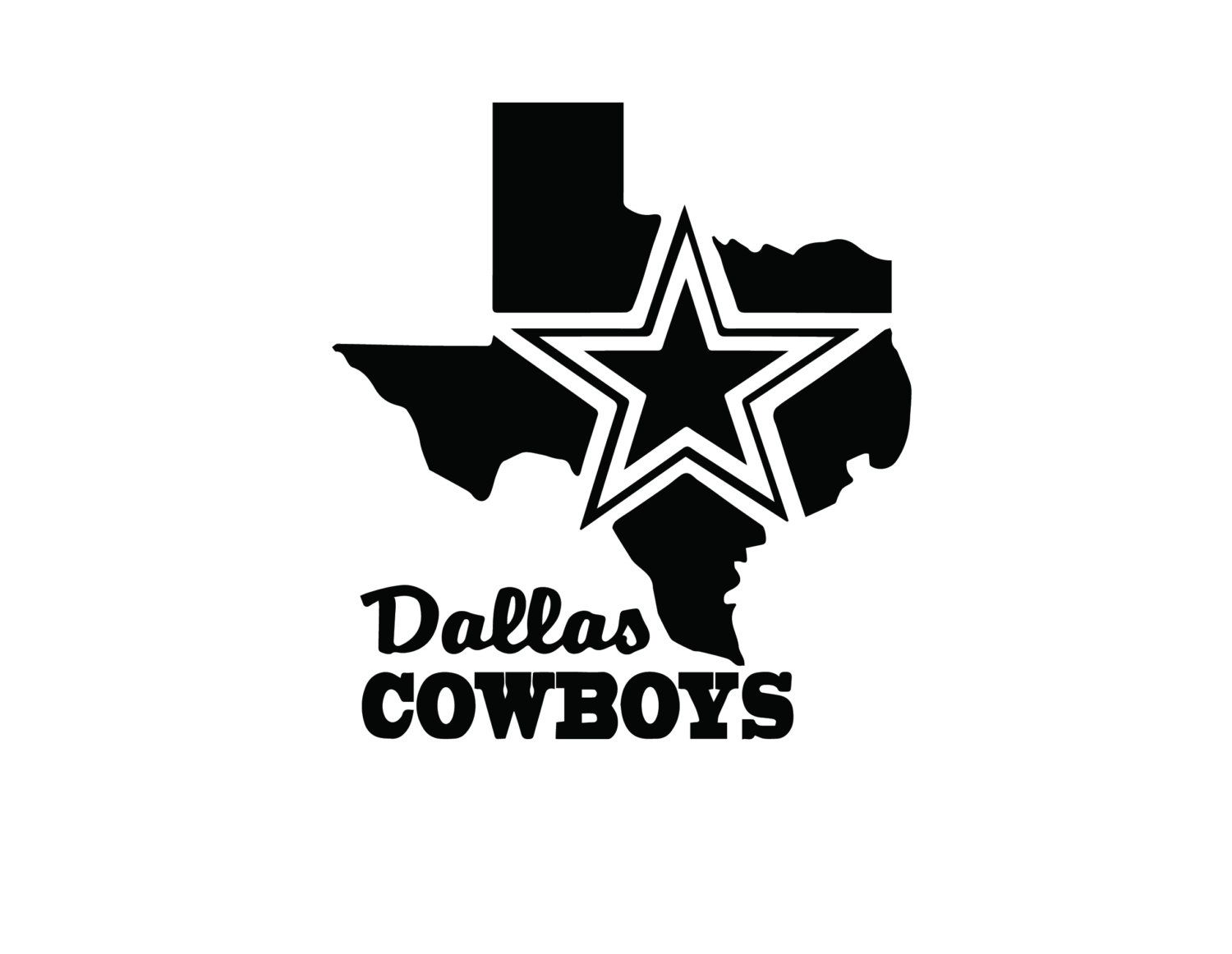 Nfl Dallas Cowboys Texas Map Vinyl Decal By Andomaking On