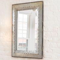 Metal Industrial Rivet Mirror   Industrial, Metals and Indoor