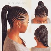work cornrow ponytail. appointments