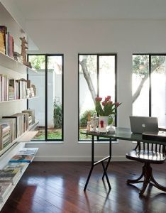 Beautiful home study with ample shelf space also exquisite  in israel gets  grand modern makeover black rh za pinterest