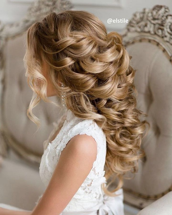 Curly wedding hairstyle For Naturally Curly Hair