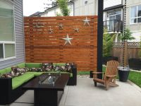 "Cedar Patio Privacy Wall 5/4x6"" cedar deck boards lag"