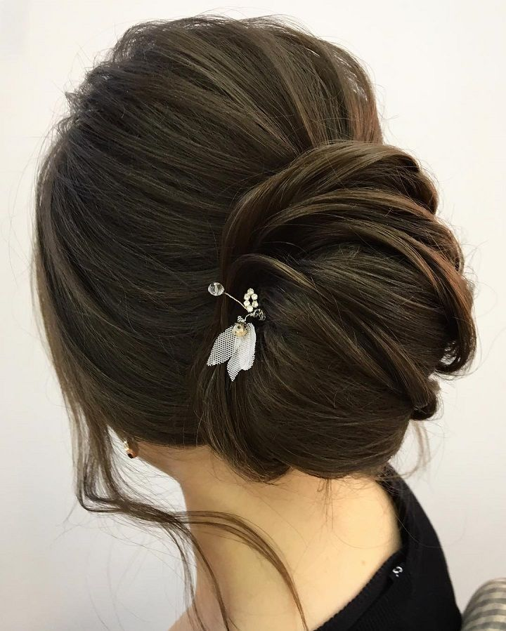 This chic french twist updo wedding hairstyle perfect for