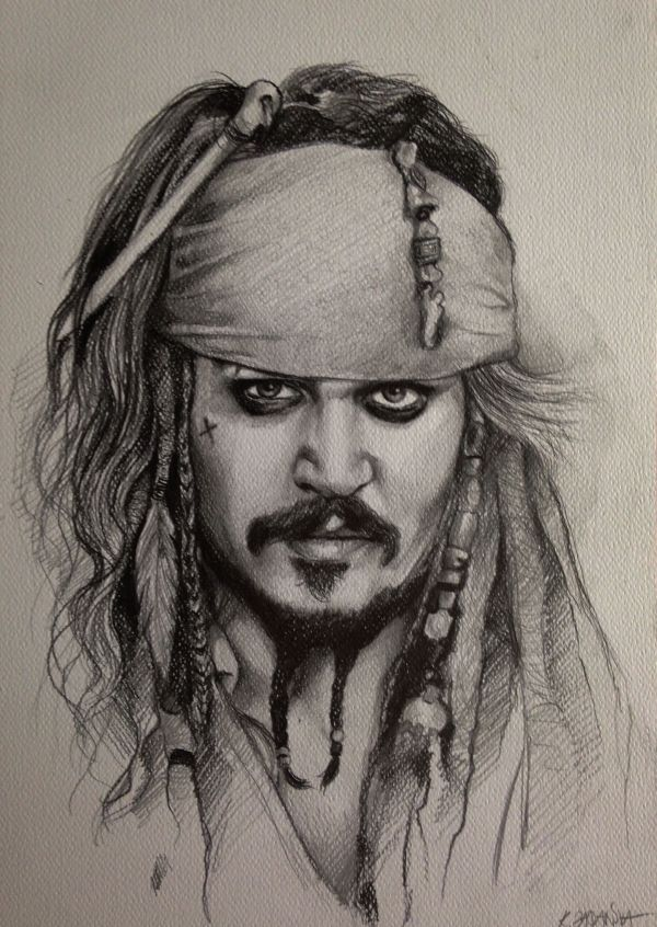 Pirate Jack Sparrow Drawing