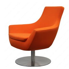 Round Base Chair Ergonomic Pros Furniture And Accessories Orange Swivel Chairs For Living