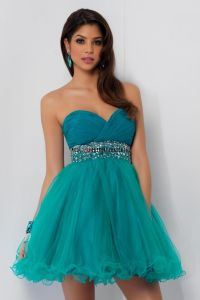 neon Quince Dresses for Damas | Turquoise Quinceanera ...