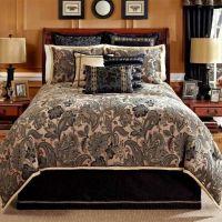 219 4pc Veratex Alamosa Black Paisley Comforter Set ...