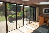Large patio door with fly screens letting fresh air in and ...