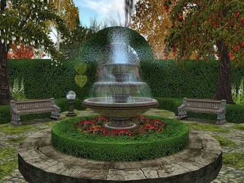 Garden Fountain Design Ideas Photo 2 1 GARDENS & POOLS