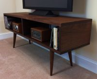 Mid Century Modern Family Room with Mid Century TV Stand ...