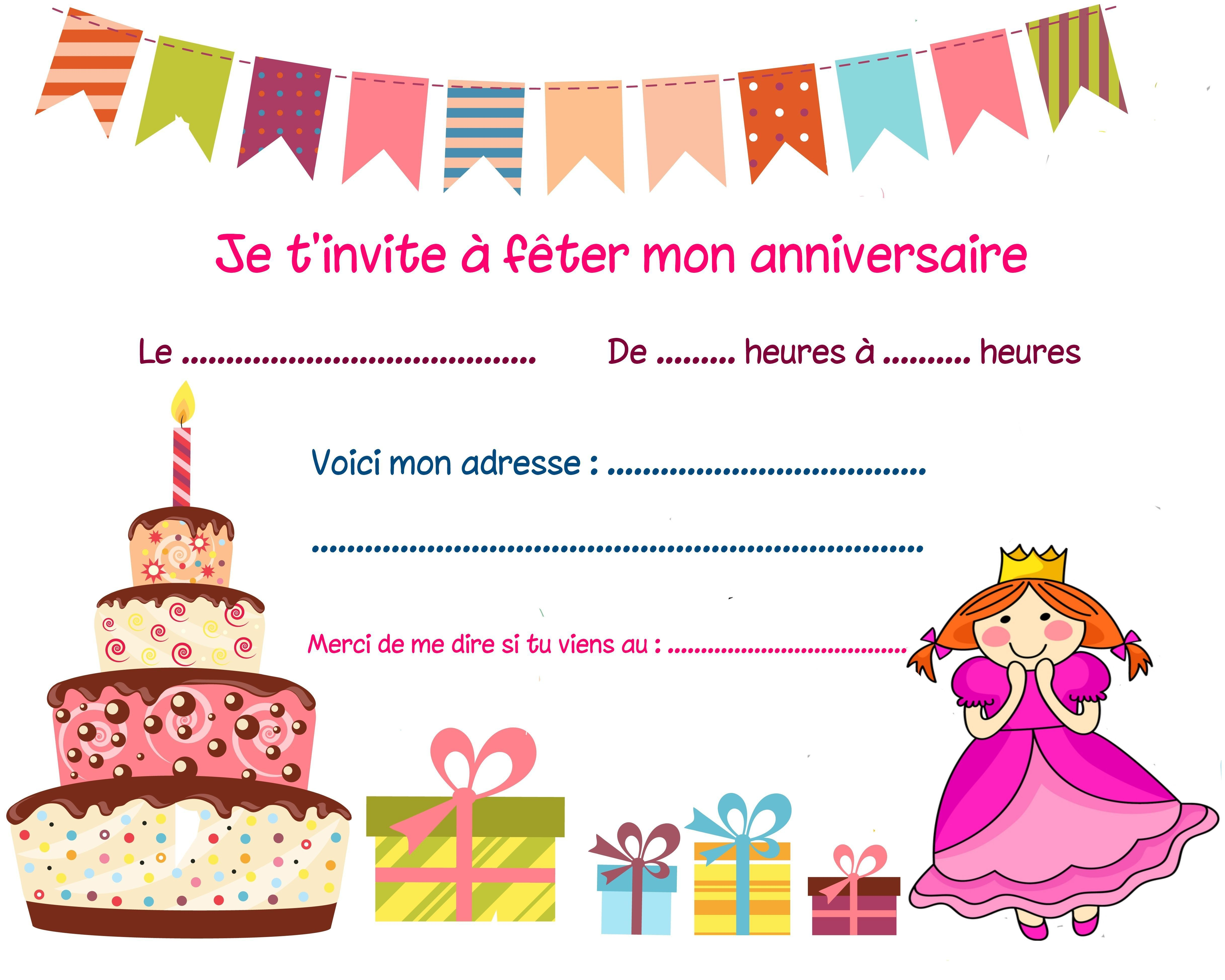 Carte Invitation Anniversaire  Carte D Invitation