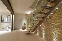 Straight Staircase - Staircase from ground to basement ...