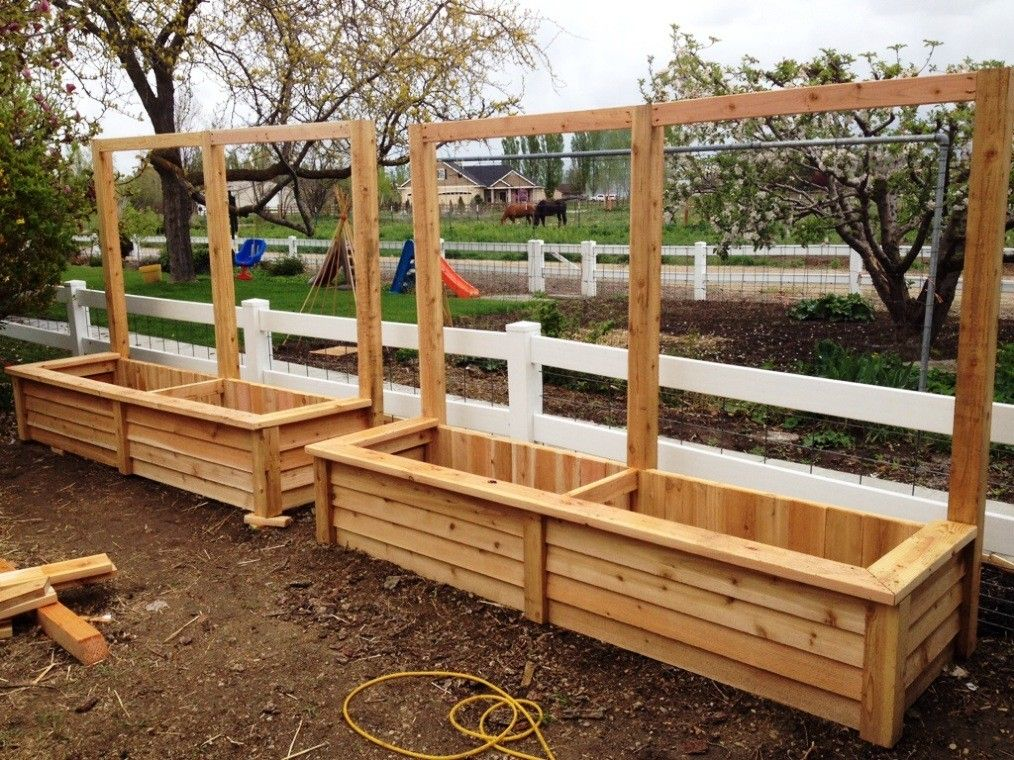 How To Build A Cedar Planter Box Yard Pinterest Designs