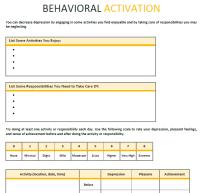 Behavioral_Activation Psychotherapy Worksheet template