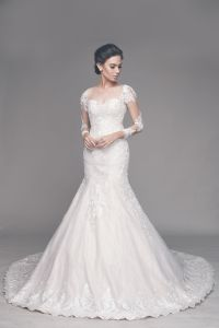 Classy Wedding Gown, Lace Wedding Gown, Bridal Gown