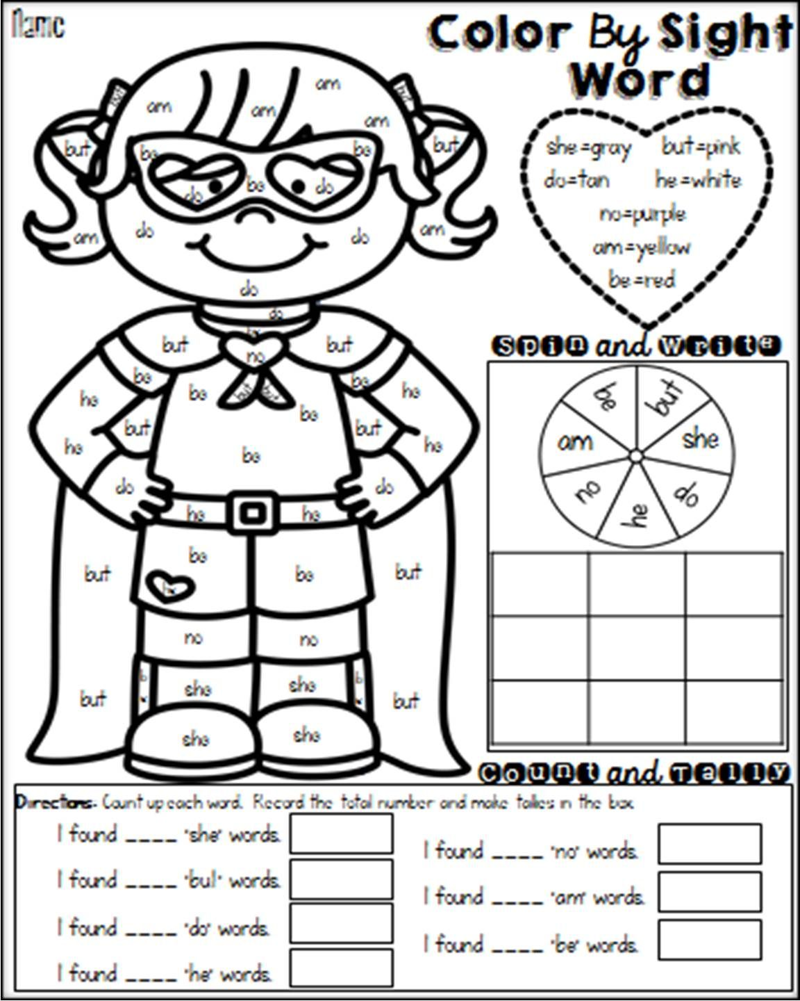 hight resolution of 2nd Grade Sight Words Worksheets