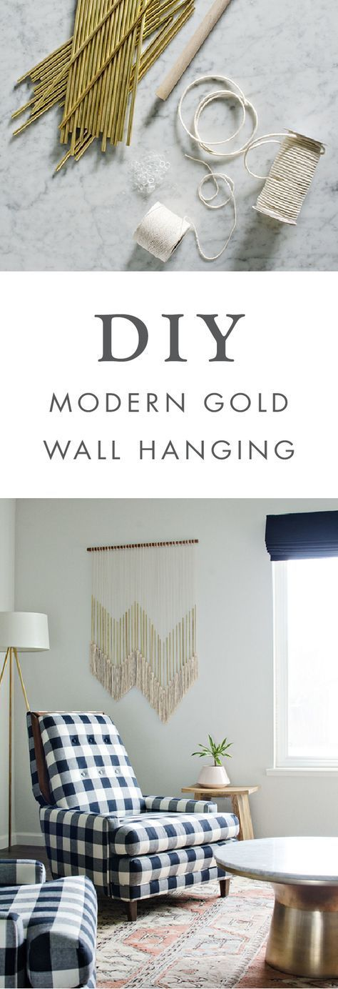 We love the idea of adding this diy modern gold wall hanging to any room your home boho decor project would looking stunning hung above bed also rh pinterest
