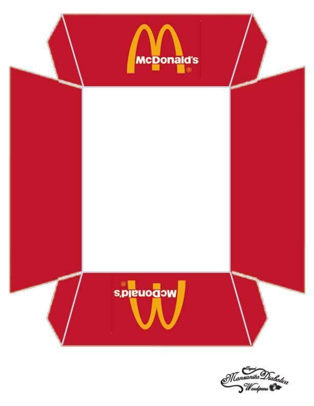 Burger King Hamburger Box Template